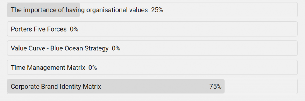 YouTube poll results should 75% of vote to Corporate Brand Identity Matrix.