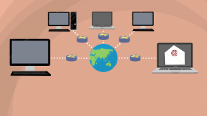 Basic representation of a wide area network